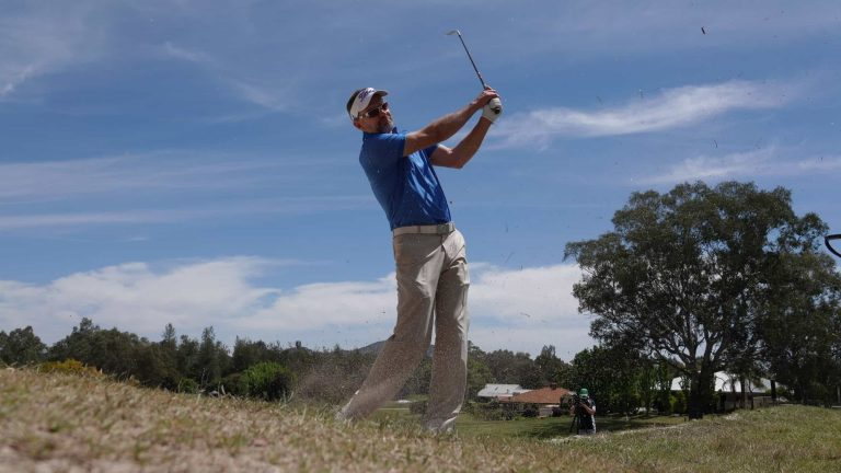 Michael Long Practicing at Thurgoona CC